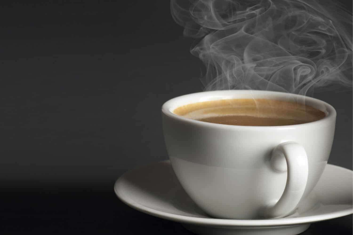 hot cup of coffee.